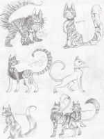 A Cast of Cats by CheshireCatGrin