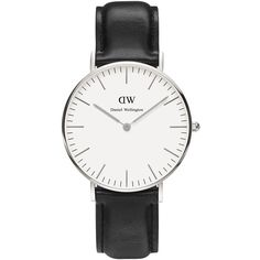 Daniel Wellington Wrist Watch (685 BRL) ❤ liked on Polyvore featuring jewelry, watches, accessories, bracelets, acc, white, daniel wellington, white wrist watch, daniel wellington watches and white watches