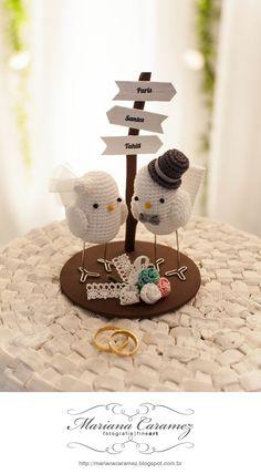wedding cake topper #lovebirds diff birds diff phrase
