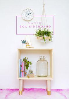 Fall For DIY's Box Sideboard tutorial featuring Prettypegs' Estelle legs in Natural Ash :) #prettypegs #storagelegs #diy