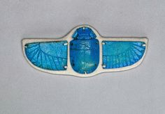 Bright blue faience winged scarab pectoral. Late Period. 25th - 30th dynasty. 760–332 B.C. | Museum of Fine Arts, Boston