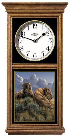 Old Timers Buffalo Oak Regulator Wall Clock 5982662769