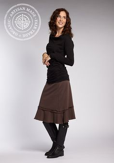 Organic cotton, fair trade Flirt Skirt and Drape Neck Tee by INDIGENOUS.