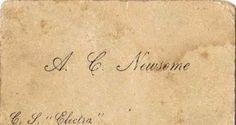 Victorian Calling Card - AI Newsome