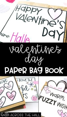 This Valentine's Day Paper Bag Book Craft is the perfect way for your students to write about, draw, and show what they love this Valentine's Day {or ay time of the year! Valentine Name, Valentine Day Crafts, First Grade Writing, 3rd Grade Reading, Valentines Writing Kindergarten, Paper Bag Books, Paper Bags, Writing Traits, Writing Mini Lessons