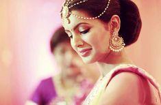 The Shy Thoughtful Bride! #wedding2015 #Weddingplz #Wedding #Bride #Groom #love #Fashion #IndianWedding #Beautiful #Style #Bollywood #Cricketer