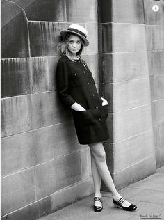 92a563e3cf58 Model Rosie Tupper is styled in feminine loveliness and a bit of by Jana  Pokorny in