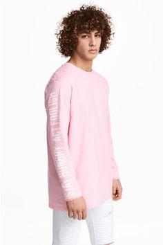 Long-sleeved T-shirt - Light pink - Men | H&M GB 1
