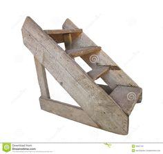 Old Wood Set Of Steps Isolated. Stock Image - Image: 25627791