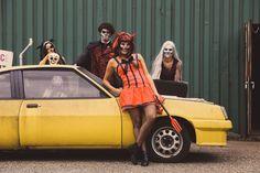 Ga met #Halloween verkleed als vleermuis, duivel, of heks! Met mooie #skull schmink en een pruik is je outfit compleet. Monster Trucks, Outfits, Clothes, Suits, Clothing, Outfit Posts, Outfit