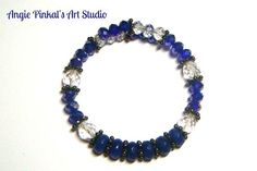 Handmade CUFF Wrap Bracelet Crystal by AngiePinkalArtStudio, $12.00