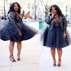 plus size tutu skirt | amber-riley-birthday-black-tutu-dress