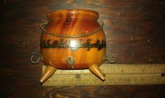 pot holder Hanger,wood,hooks,save your hands,DECOR,good cond,must see