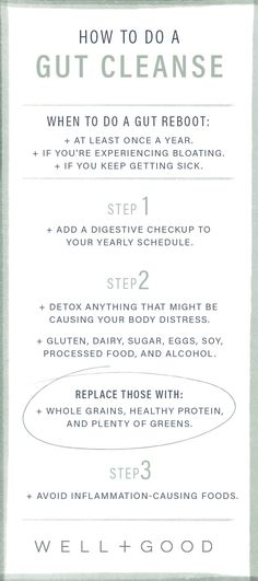 How to do a proper gut cleanse.