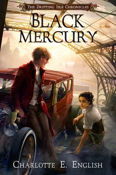 Cover for steampunk novel Black Mercury (art by Elsa Kroese).