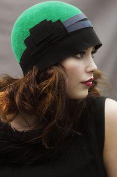 Cloche Hat with Ribbon - Great Gatsby Era