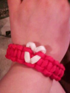 paracord!-- well this makes me wish I bought more than just one color so I can do this!