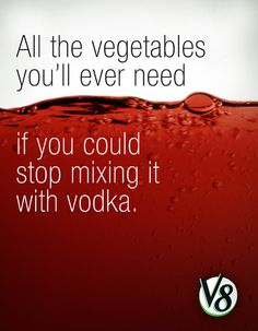 Stop with the vodka!