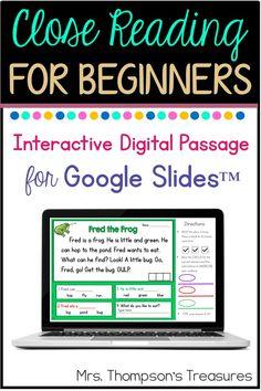 Free Beginning Reader Passage for Google Slides™ - Classroom Freebies