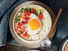 Hatch Chile Grits Breakfast Bowl Recipe [Jamae and i cold enjoy this with a hot, boiled egg]