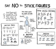 Better Drawing Tired of seeing stick figures in your student projects? Here's a guide to how you can draw better people. - Tired of seeing stick figures in your student projects? Here's a guide to how you can draw better people.