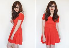 Sarah from TempSec blog wears Quiz Clothing red dress http://temporary-secretary.blogspot.co.uk/2014/09/red-dress-new-girl.html