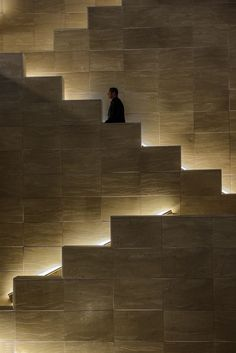 Lights for stairways are as crucial as the lighting of any rooms in your house. A good lighting for the stairs should not be underestimated. The dark stairways might cause a . Stair Lighting, Interior Lighting, Lighting Design, Accent Lighting, House Lighting, Light Architecture, Architecture Details, Interior Architecture, Interior Stairs