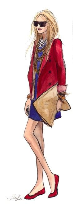 Inslee Haynes - Love the statement trenchcoat and maxi clutch.