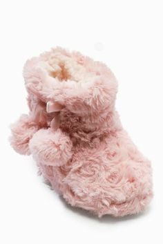 Buy Pink Faux Fur Slipper Boots (Younger Girls) from the Next UK online shop