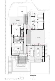 offSET Shed House,Floor Plan
