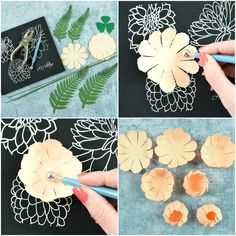 Peony Paper Flower Template: Step by Step Easy Paper Flower Tutorial. The perfect DIY craft to give your home, party, or office the touch of beauty you're looking for! Paper Flower Backdrop, Giant Paper Flowers, Origami Flowers, Paper Butterflies, Diy Wedding Flowers, Diy Flowers, Fabric Flowers, Felt Flowers, Hobbies And Crafts