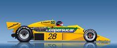 """Ararê Ilustração: """"Os F1 do Emerson"""" - 1977 - A aventura Copersucar-Fittipaldi continua"""