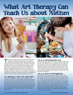 The Autism NoteBook October/November 2014 : What Art Therapy Can Teach Us About Autism
