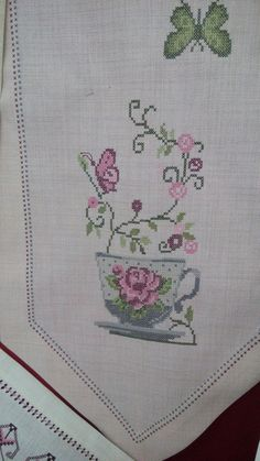 Table Linens, Cross Stitch Patterns, Diy And Crafts, Flowers, Handmade, Herb, Cross Stitch, Trapper Keeper, Toss Pillows