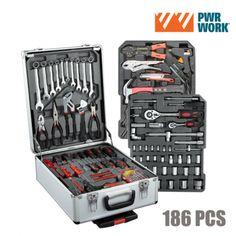 Maletín de Herramientas PWR Work (186 herramientas) - 9036