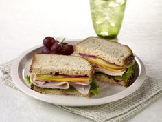 Cranberry Apple Turkey Sandwiches. Made with Hormel Natural Choice Oven Roasted Deli Turkey. Back to school lunch, anyone?