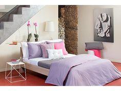 Lavender, pink, gray, and white are such pretty colors together! Decor, Duvet Cover Sets, Comforter Sets, Bed, Furniture, King Duvet Set, Toddler Room, Duvet Sets, Home Decor