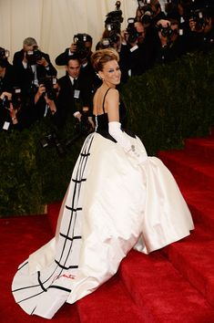 Sarah Jessica Parker rocks a ball gown at the Met Gala.