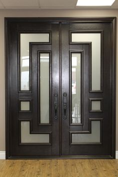 modern glass double front doors - Google Search