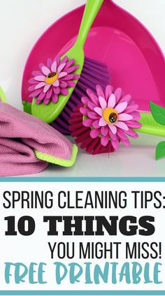 Try these spring cleaning tips for a nice and fresh home! These ten items might go forgotten, so use this checklist for a perfectly clean home.