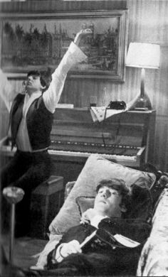 Paul being fabulous and John not having a care in the world