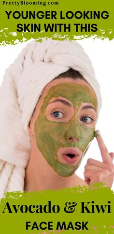 Anti-Aging Avocado & Kiwi Face Mask [Pick-me-up & Collagen Booster] – Pretty Blooming Face Skin Care, Diy Skin Care, Skin Care Tips, Organic Skin Care, Natural Skin Care, Kiwi, Chocolate Face Mask, Skin Secrets, Younger Looking Skin