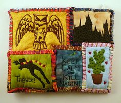 Harry, Ron, Hermione, Luna, and Neville! HP Pouches for each character! - PURSES, BAGS, WALLETS