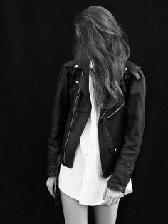 #style #leather #jacket #hair