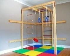 Indoor play gym kids play room.