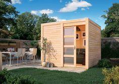 KARIBU Gartenhaus »Cubussi«, BxT: 246x246 cm, in 2 Farben ab 999,99€. Aus nordischem Fichtenholz, Inkl. Anbaudach und selbstklebender Dachbahn bei OTTO