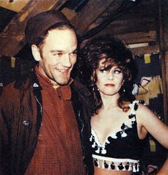 PHOTO Michael Stipe And Kate Pierson During Filming Of The B 52s Deadbeat