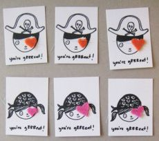 Awesome Vday cards for kids, somewhere between a printable and a craft.