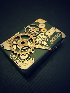 Steampunk style zippo lighter by Simplysquaredesigns on Etsy
