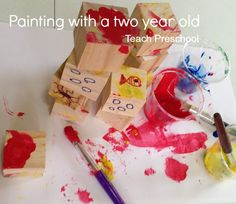 Painting with a two year old by Teach Preschool
